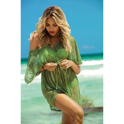 Пляжная туника из ажурной сетки