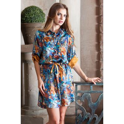 Шелковая рубашка-платье Yesenia