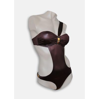 Оригинальный купальник-монокини с бретелью через плечо