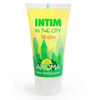 Увлажняющий лубрикант Intim Aroma с ароматом мохито - 60 гр.