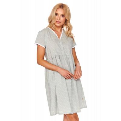 Элегантная короткая сорочка с кружевной тесьмой