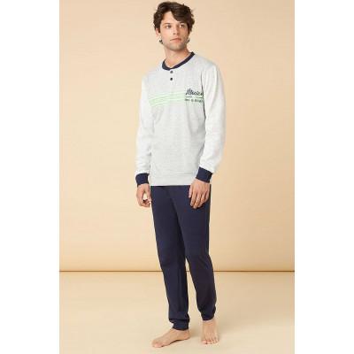 Хлопковая пижама с длинным рукавом