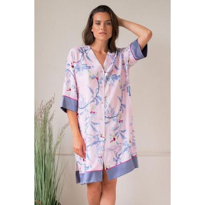 Удобная домашняя сорочка с цветочным принтом
