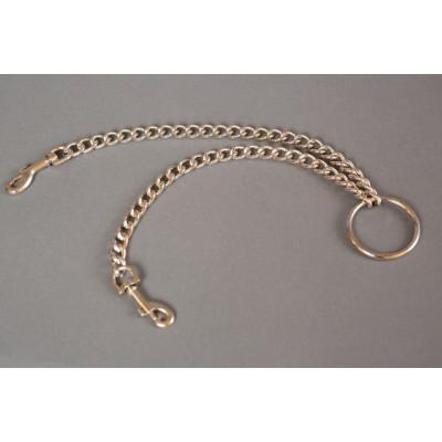 Цепь с центральным кольцом и карабинами по обе стороны