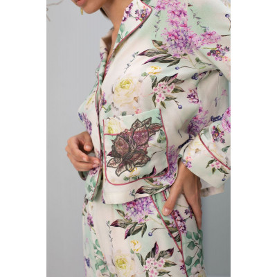 Стильная рубашка с цветочным рисунком