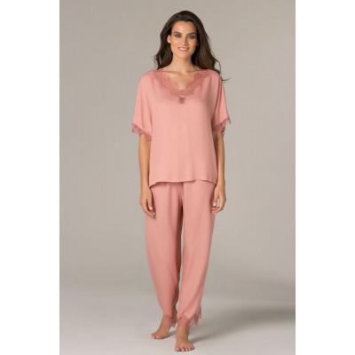 Пижама свободного кроя из вискозы