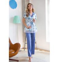 Пижамный комплект Julie с цветочным рисунком на топе