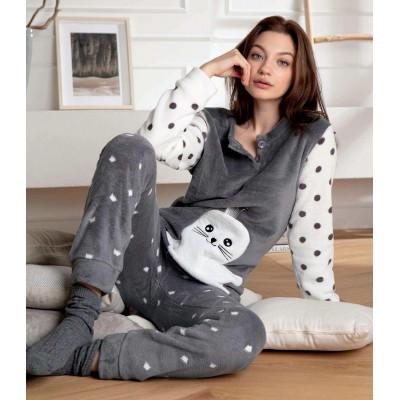 Теплый домашний костюм с морским котиком