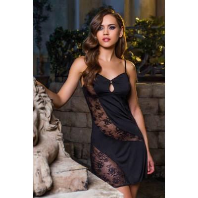 Соблазнительная сорочка с кружевами Elegance de lux
