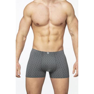 Мужские облегающие трусы-боксеры с ромбовидным узором