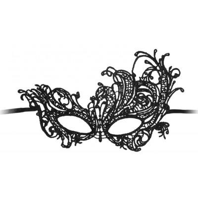 Черная кружевная маска ручной работы Royal Black Lace Mask