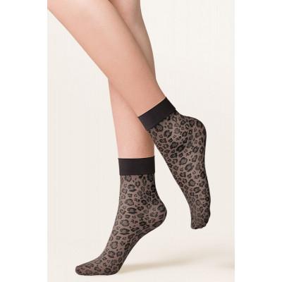 Леопардовые носочки Caty с мягкой резинкой