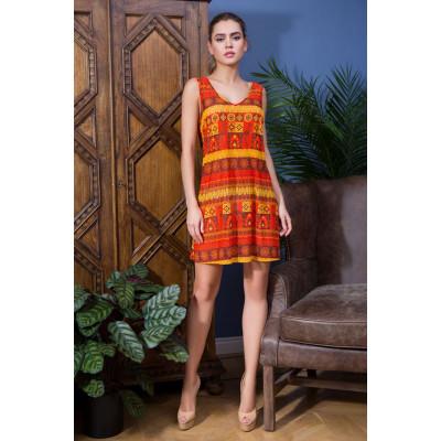 Легкая сорочка Adelin с принтом в африканском стиле