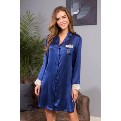 Шелковая сорочка рубашечного типа Kristy